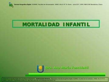 mortalidad infantil - Facultad de Humanidades-UNNE
