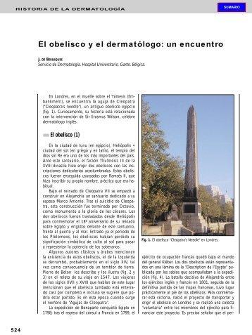 El obelisco y el dermatólogo: un encuentro - El Médico Interactivo