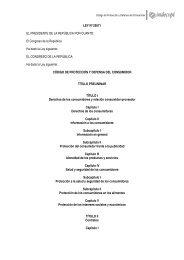 el Código de Protección y Defensa del Consumidor - Indecopi