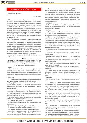 Boletín Oficial de la Provincia de Córdoba - Ayuntamiento de Lucena