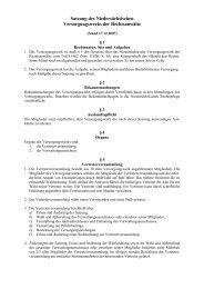 Satzung des Niedersächsischen Versorgungswerks der ...