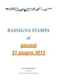 Rassegna stampa di giovedì 21 giugno 2012 - Atap