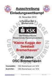 40 Jahre OSC Bremerhaven - DSV