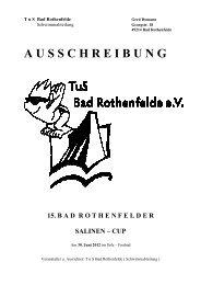 Ausschreibung TuS Bad Rothenfelde 2012