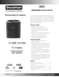 13 SEER / R-410A - Goodman
