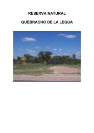 Reserva Natural Quebracho de la Legua - Ministerio de Medio ...