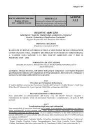 Bando - Regione Abruzzo