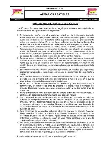 ARMARIOS ABATIBLES - Grupo Dayfor