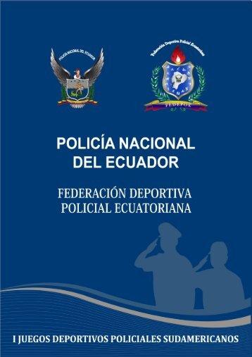 la federación deportiva policial ecuatoriana - Fedepoe