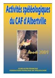 Activités CAF 2001 - Karstexplo