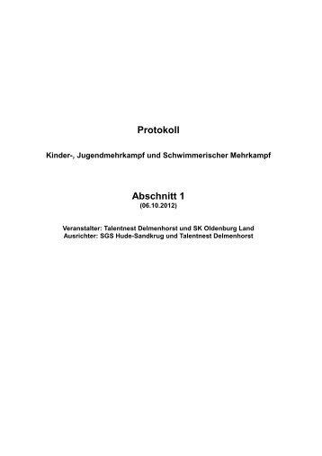 WK-Pro Protokoll - Schwimm-Club Delmenhorst e.V.