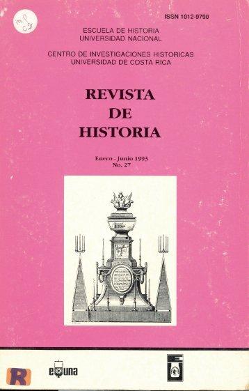 ISSN 1012-9790 - Revista Historia - Universidad de Costa Rica