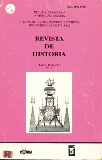ISSN 1012-9790 - Revista Historia - Universidad de Costa Rica
