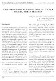 la investigación en medicina de la altura en bolivia, reseña historica