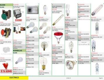 Catálogo Completo de Eléctricos - Tesoro en Maderas