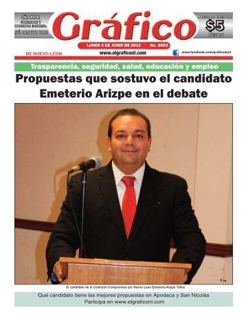 Propuestas que sostuvo el candidato Emeterio Arizpe en el debate