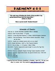 HARMONY 4-1-1 - Harmony Science Academy - Grand Prairie