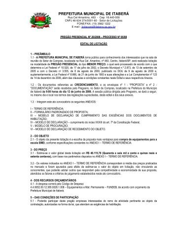 prefeitura municipal de itaberá - prefeitura municipal de itabera
