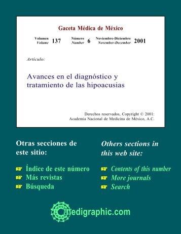 I. Etiología de la hipoacusia-sordera - edigraphic.com