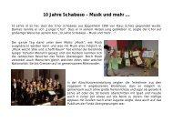 10 Jahre Schabeso – Musik und mehr … - Schabeso, der spritzige ...