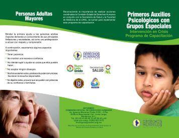 Primeros Auxilios Psicológicos con Grupos Especiales - Comisión ...