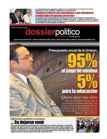 Hermosillo, Son. - Dossier Político