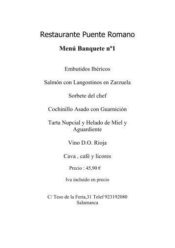 menus bodas - Hosteleriasalamanca.es