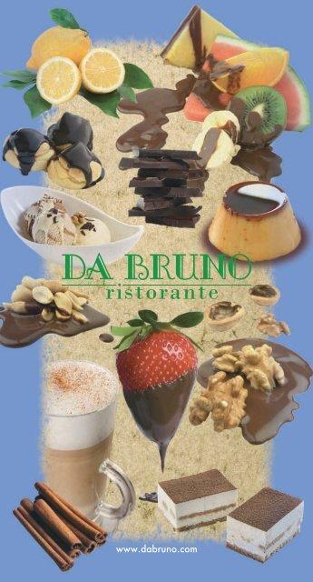 Carta de Postres - Da Bruno