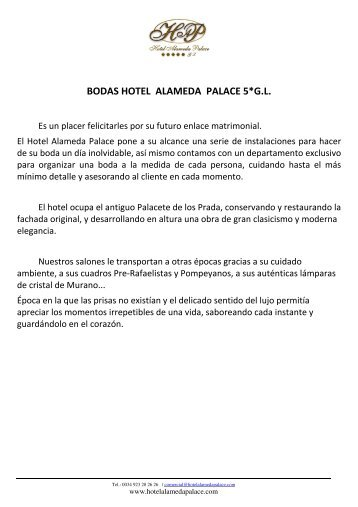 Dossier Bodas 2011 - Hotel Alameda Palace