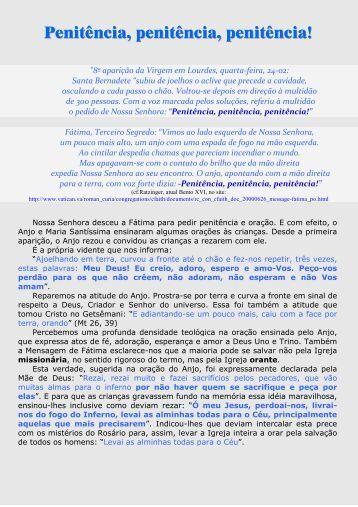 256 - Penitência penitência penitência - Maria Mãe da Igreja