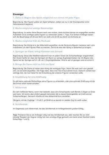 Schachtipps (PDF)
