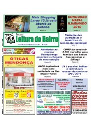 Edição Novembro/2010 - Jornal Leitura do Bairro