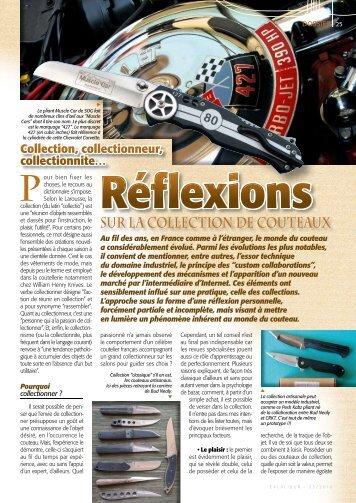 SUR LA COLLECTION DE COUTEAUx - Relentless Knives USA