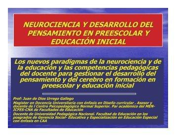 Neurociencia y desarrollo del pensamiento en preescolar