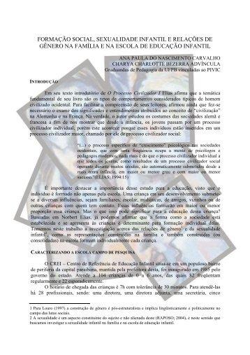 FORMAÇÃO SOCIAL, SEXUALIDADE INFANTIL E ... - Itaporanga.net