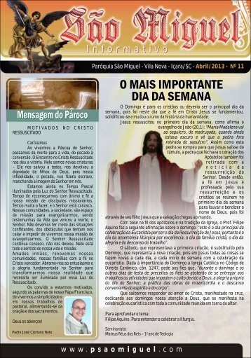 Informativo ABRIL 2013_____ SITE.cdr - Paróquia São Miguel