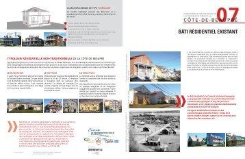 Fiche 7: Bâti résidentiel existant - MRC de La Côte-de-Beaupré