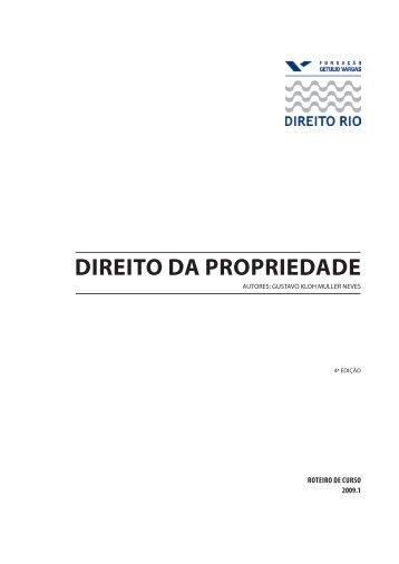 DIREITO DA PROPRIEDADE - Fundação Getulio Vargas
