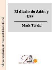 El diario de Adán y Eva Mark Twain - Ataun