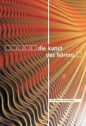 die kunst des hörens - Hörgeräte Schaaf & Maier