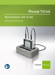 User Manual Phonak TVLink - Hörgeräte Schaaf & Maier