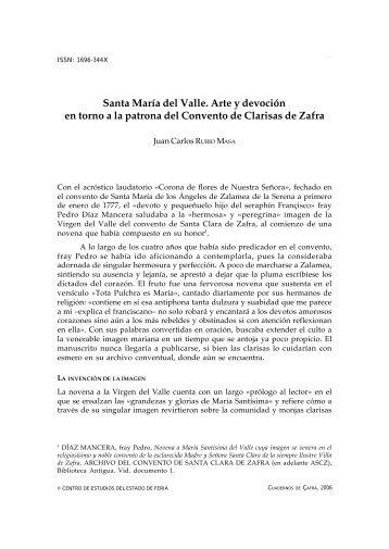 Santa María del Valle. Arte y devoción en torno a la patrona del ...