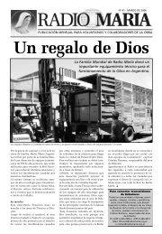 Suplemento Marzo 2006 - Radio María Argentina