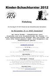 Kinder-Schachturnier 2012
