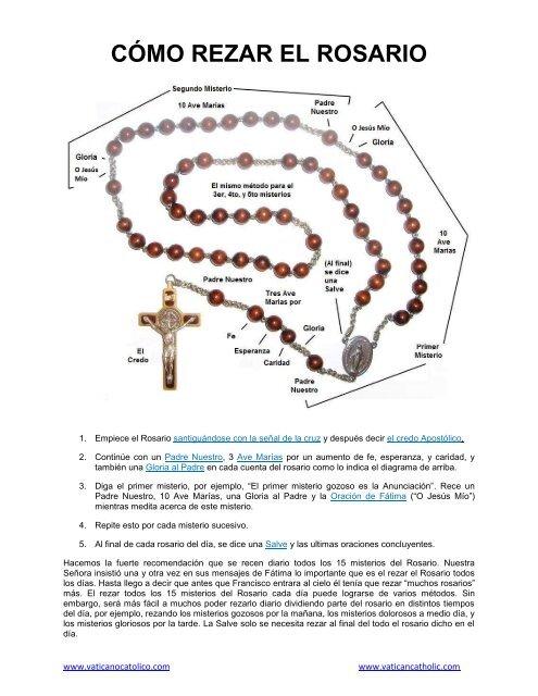 Cómo Rezar El Santo Rosario Pdf Vaticanocatolico Com