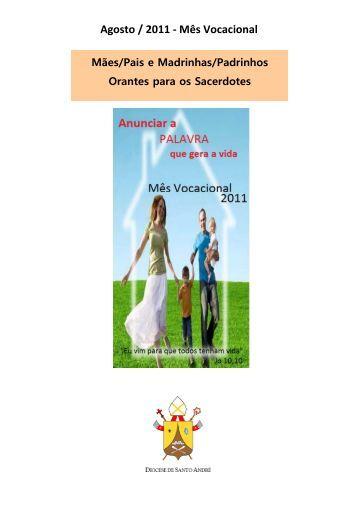 Agosto / 2011 - Mês Vocacional - Diocese de Santo André