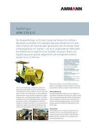 Strassenfertiger AFW 270 E/G