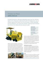 Finisseur sur Pneus AFW 270 E/G - Ammann