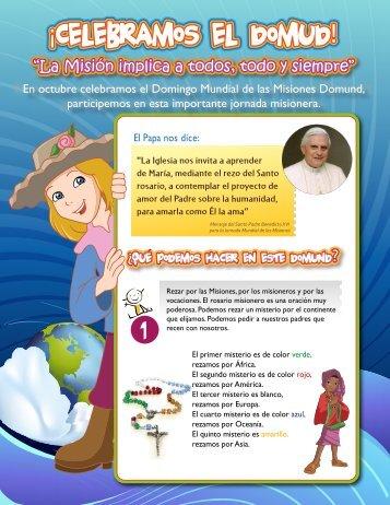 """""""La Misión implica a todos, todo y siempre"""" - Club de Niños Misioneros"""