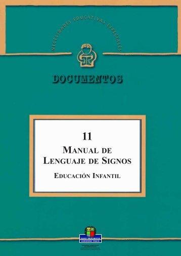 MANUAL DE LENGUAJE DE SIGNOS - Educación de sordos